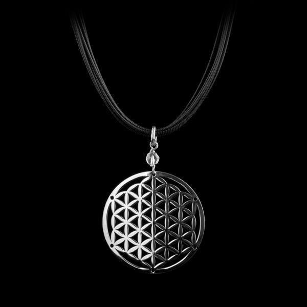 Flower of life sport silver necklace mozeypictures Gallery