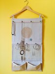Flower of Life Hanging Jewelry Organizer - Brown
