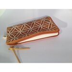 Flower of Life Cell Phone Bag / Pencil Pouch - Brown