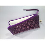 Flower of Life Cell Phone Bag / Pencil Pouch - Purple