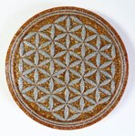 Charging Plate - Flower of Life - 4.53'' / 115mm - 1