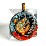 Dragon's Power & Protection Black Orgonite Pendant