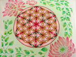 Pink Flower of Life Pillow / Cover - 2