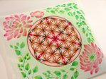 Pink Flower of Life Pillow / Cover - 3