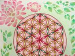 Pink Flower of Life Pillow / Cover - 4