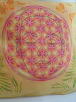 Face in the Flower of Life Pillow / Cover - 3