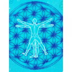 Hand Painted Flower of Life Top With Vitruvian Man