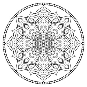 Relieve Daily Stresses With Beautiful Free Flower of Life Coloring Page