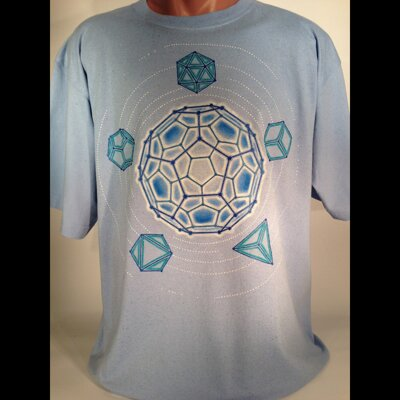 Hand Painted Platonic Solids T-Shirt