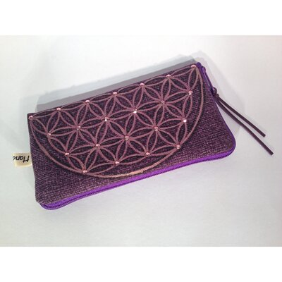 Handmade Cell Phone Bag / Pencil Pouch - Purple