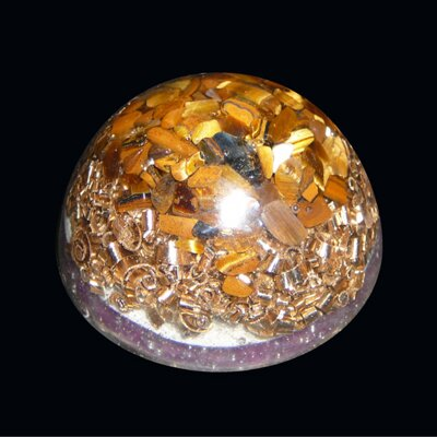 Orgone Half Sphere S - Tiger's Eye