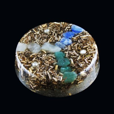 Orgone Round Amulet - Peace and Calm