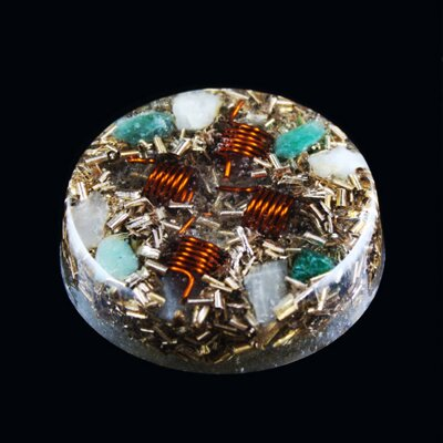 Orgone Round Amulet - Peace and Calm 2