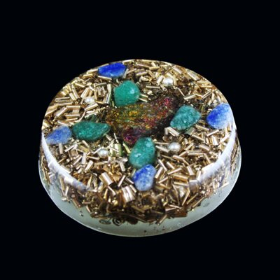 Orgone Round Amulet - Prosperity / Happiness and Money 4