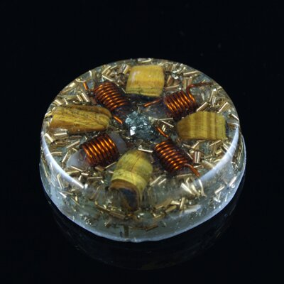 Orgone Round Amulet - Psychic Protection 2
