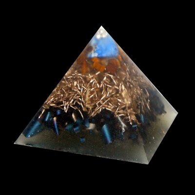 Orgone Pyramid Kepler S - Lapis Lazuli and Tiger's Eye