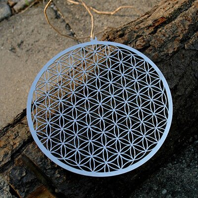 "Flower of Life Wall / Window Decoration - 6.8"" / 17 cm"