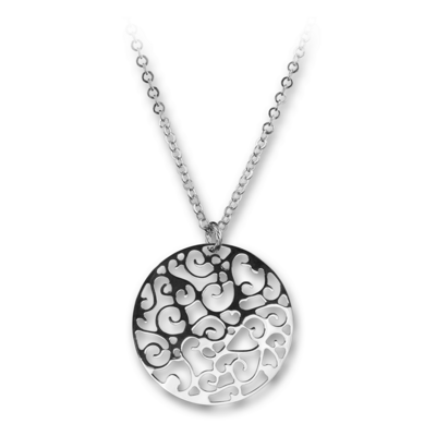 Chiocciole Silver Necklace With Silver Chain