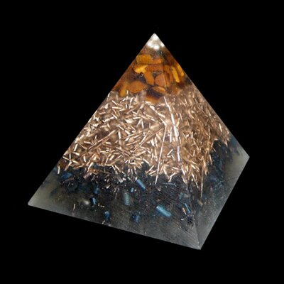 Orgone Pyramid Kepler S - Tiger's Eye