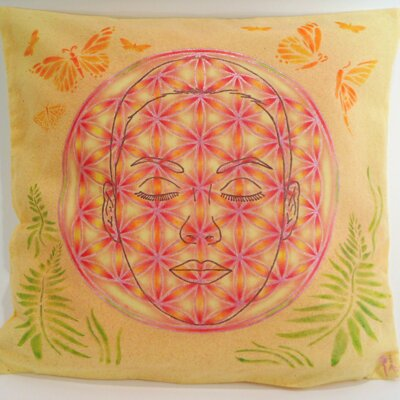Face in the Flower of Life Pillow / Cover