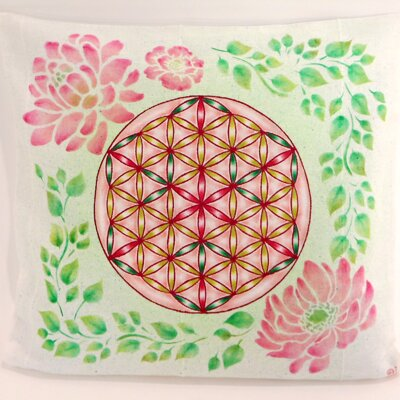 Pink Flower of Life Pillow / Cover