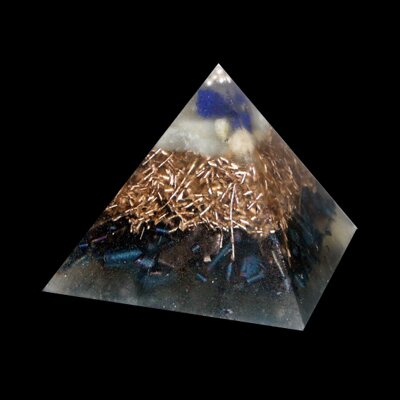 Orgone Pyramid Kepler S - Azurite and Aquamarine