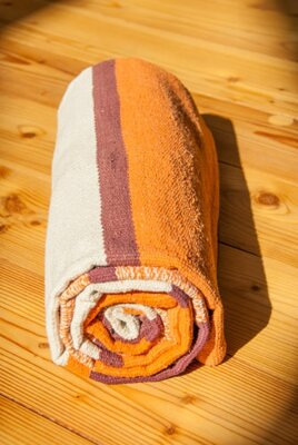 "Cotton Yoga Mat Orange - 28"" x 79"" (70 x 200cm)"