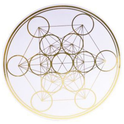 "Metatron's Cube Removable Sticker - 7"" / 18 cm"