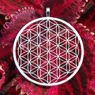 Flower of Life Pendant with 6 Neodymium Magnets