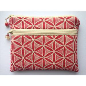 Handmade Cell Phone Bag / Cosmetic Pouch - Red