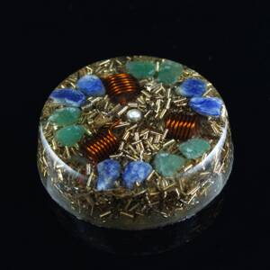 Orgone Round Amulet - Prosperity / Happiness and Money