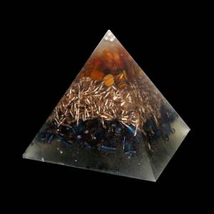 Orgone Pyramid Kepler S - Amber and Tiger's Eye