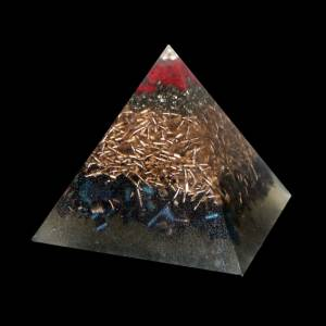 Orgone Pyramid Kepler S - Jasper and Pyrite