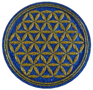 Charging Plate - Flower of Life - 4.53'' / 115mm