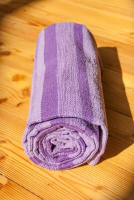 "Cotton Yoga Mat Purple - 28"" x 79"" (70 x 200cm)"