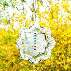 "Chakra Wind Spinner With 7 Glass Balls 10"" / 25 cm"
