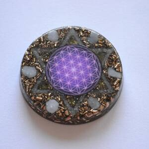 Orgonite Amulet with Hexagram - Angel