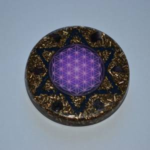 Orgonite Amulet with Hexagram - Peace