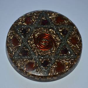 Orgonite Amulet with Hexagram - Protective Energy