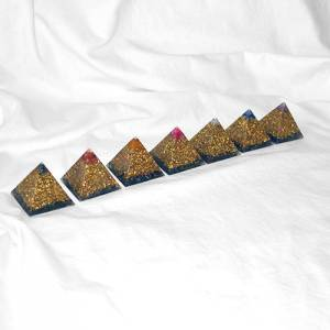 Orgonite Set - Pyramids (7 Pcs.)