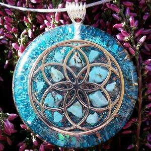 Seed of Life Orgonite Pendant With Turquenite